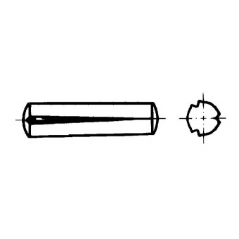 DIN 1471 Жлебови щифтове с конусни насечки