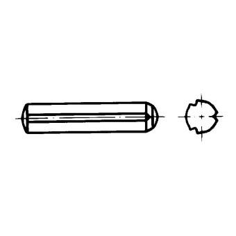 DIN 1473 Щифтове цилиндрични насечени с фаска