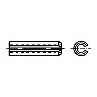 DIN 1481 Щифтове пружинни насечени, тежко изпълнение