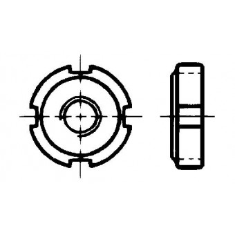 DIN 1804 Гайки кръгли с периферни прорези