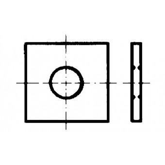 DIN 436 Квадратни шайби