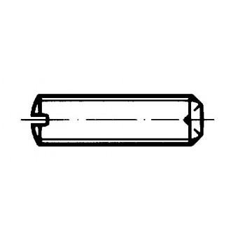 DIN 438 Винтове стопорни с прав шлиц и пръстеновиден врязващ се край