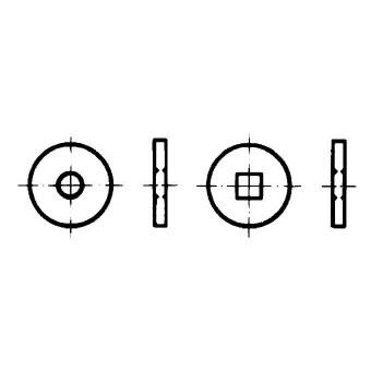 DIN 440 Шайби кръгли плоски за дървени конструкции