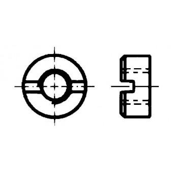 DIN 546 Гайки кръгли с прорез на челото