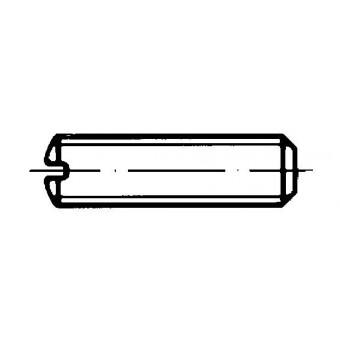 DIN 551 Винтове стопорни с плосък край и прорез