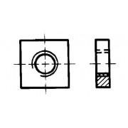 DIN 562 Гайки квадратни, ниски