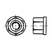 DIN 6331 Гайки шестостенни с борд, 1.5 d