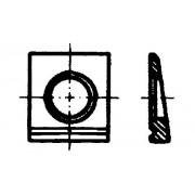 DIN 6917 HV-Шайби квадратни за Т-носачи (14%)