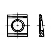 DIN 6918 HV-Шайби квадратни за U-носачи (8%/5%)