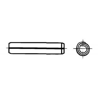 DIN 7343 Щифтове спираловидни пружинни, нормално и леко изпълнение