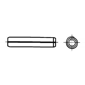 DIN 7344 Щифтове спираловидни пружинни, тежко изпълнение