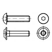 ISO 7380  Винтове с плоска глава и вътрешен шестостен, винтове с вградена шайба