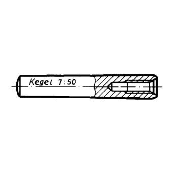 DIN 7978 Щифтове конусни с вътрешна резба, незакалени