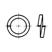 DIN 7980 Шайби пружинни за винтове с вътрешен шестостен