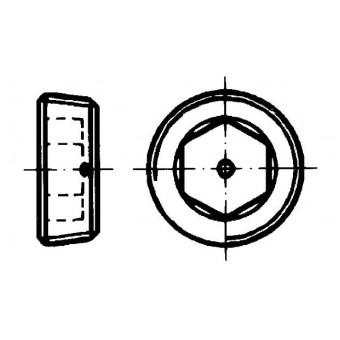 DIN 906 Тапи с вътрешен шестостен, конична резба