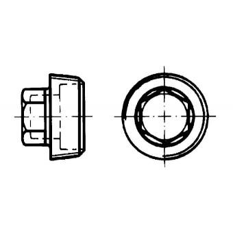 DIN 909 Тапи шестостенни, конична резба