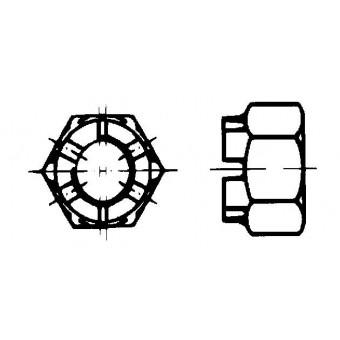 DIN 935 Гайки шестостенни с прорези и коронни
