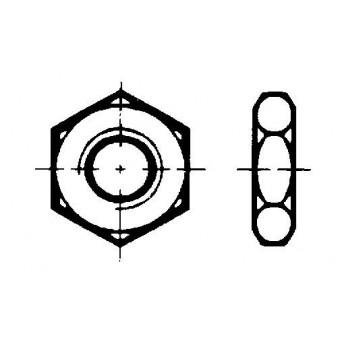 DIN 936 Гайки шестостенни ниски с фаска с метрична нормална и ситна стъпка на резбата