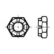 DIN 979 Гайки шестостенни с прорези и коронни ниски