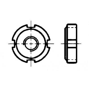 DIN 981 Гайки кръгли шлицови за закрепващи и затягащи втулки