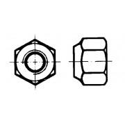 DIN 982 Гайки шестостенни високи самозаконтрящи се с неметална вложка