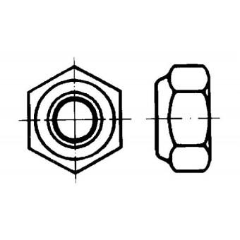 DIN 985 Гайки шестостенни ниски самозаконтрящи се с неметална вложка