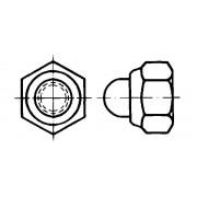 DIN 986 Контрагайки шестостенни с пръстен от полимер, калпаковидни